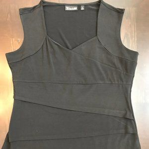 New York & Company 7th Avenue Black Top Size: XL